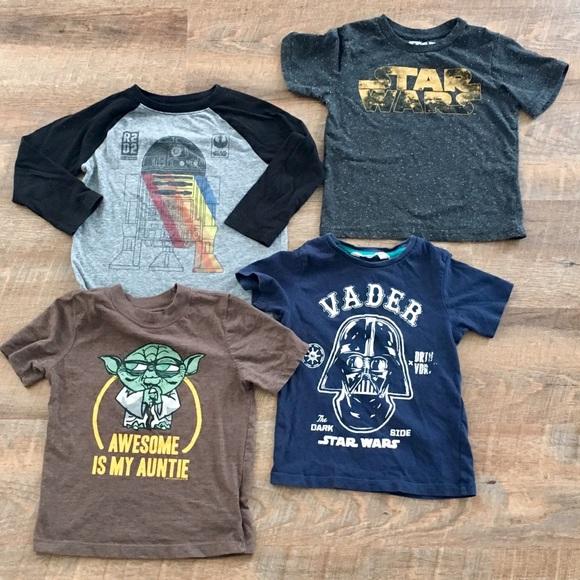 cc2cab6c H&M Shirts & Tops | Star Wars Bundle Boys 4t | Poshmark